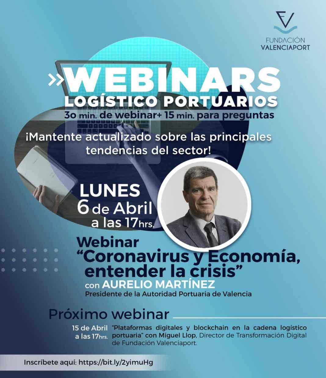 """La Fundación Valenciaport lanza sus """"Webinars Logístico Portuarios"""" durante la cuarentena"""
